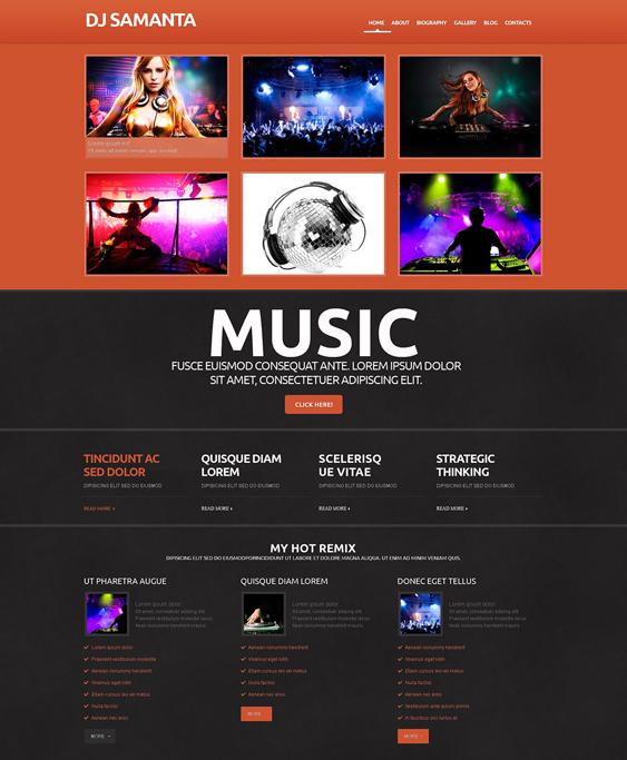 dj responsive1 music wordpress themes