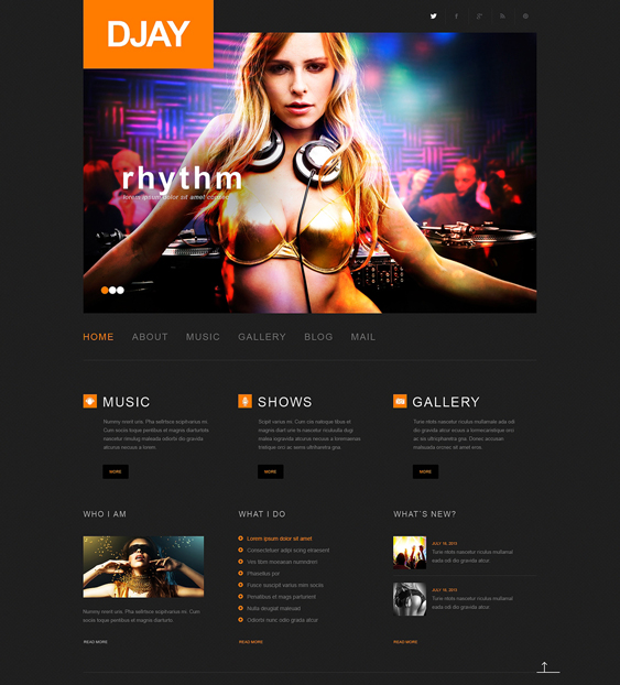dj responsive2 music wordpress themes