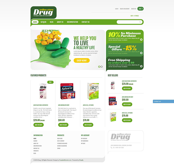 drug store pharmacy shopify themes