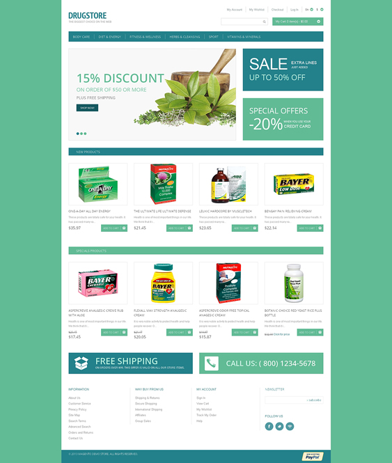 drug store5 medical magento themes