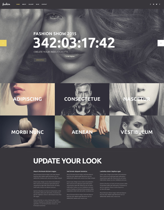 fashion icon dark wordpress themes