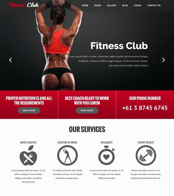 fitness gym drupal themes club