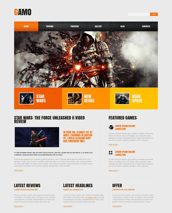 game portal gaming wordpress themes 2