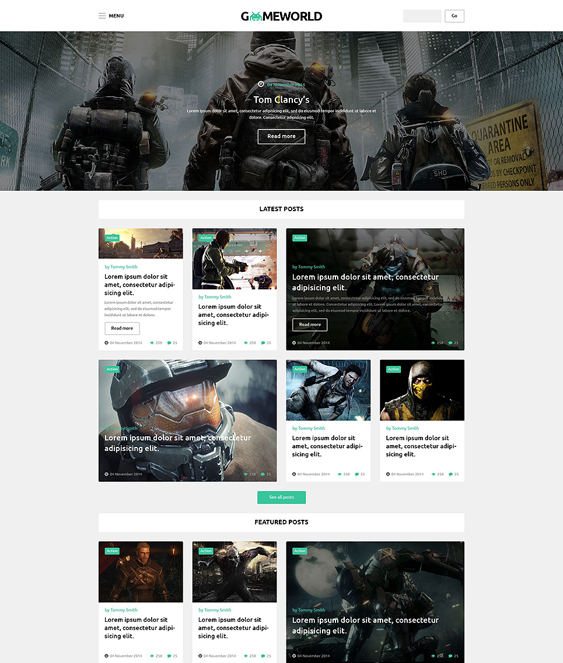 gameworld gaming wordpress themes