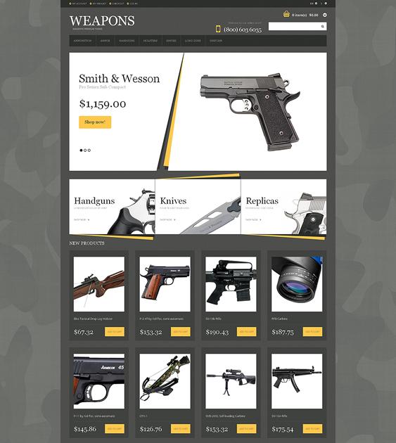 gun dark magento themes