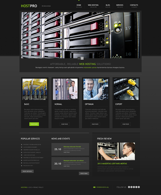 web hosting wordpress themes 4