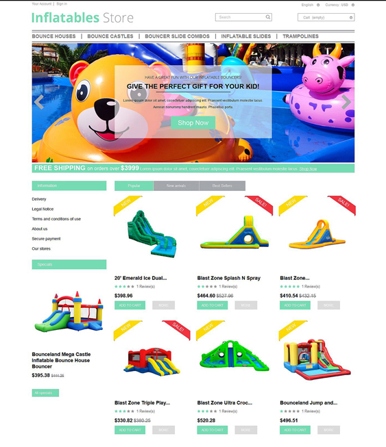 inflatables kids prestashop themes
