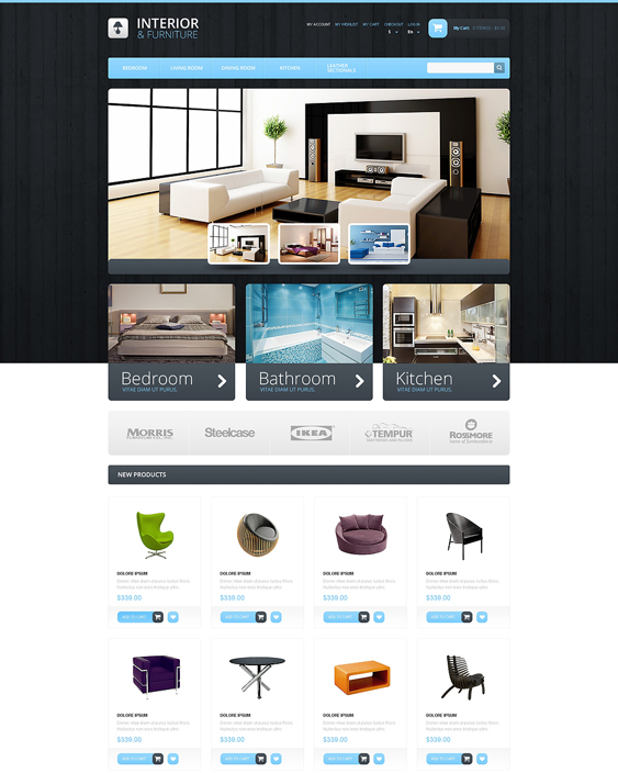 interior furniture magento themes