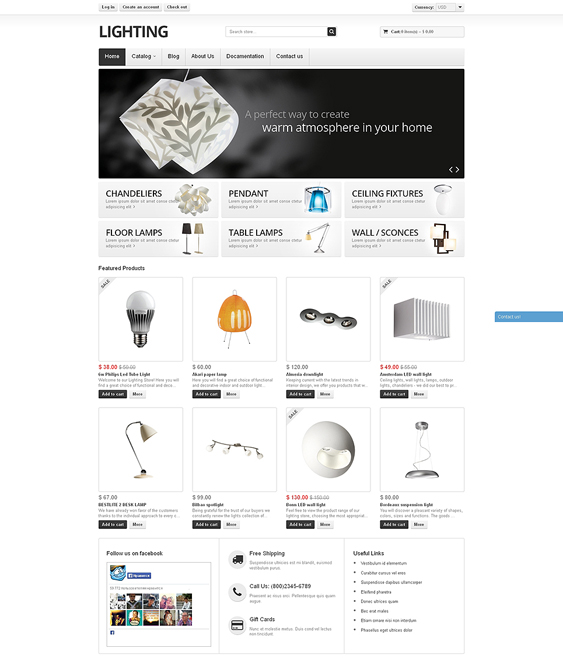 lighting home decor interior design shopify themes