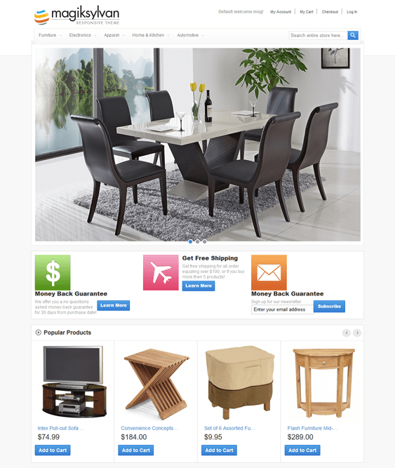 magik sylvan furniture magento themes
