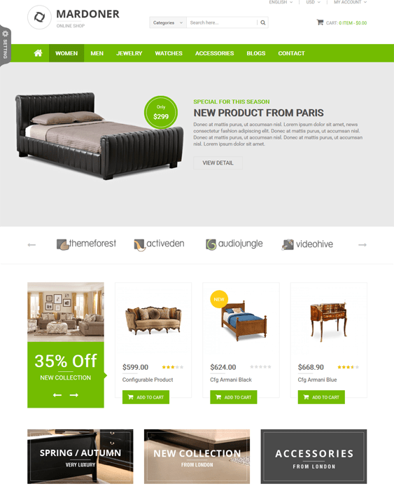 mardoner furniture magento themes