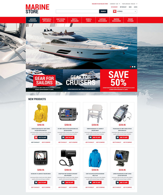 marine sports fitness magento themes