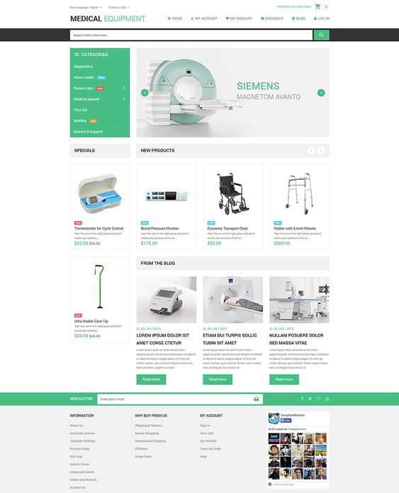 medical magento themes stuff