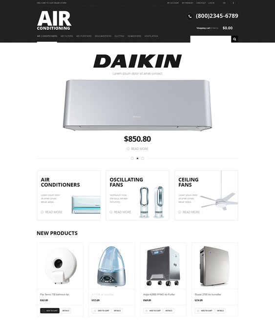 modern hardware home improvement magento themes