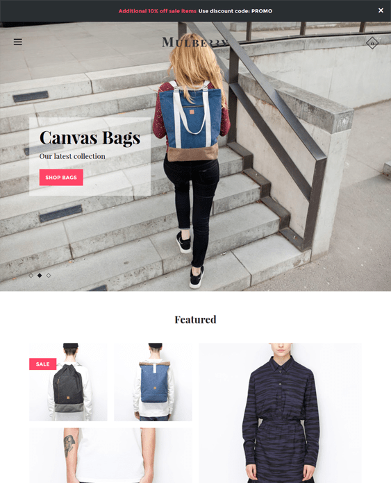 mosaic mulberry clean shopify themes