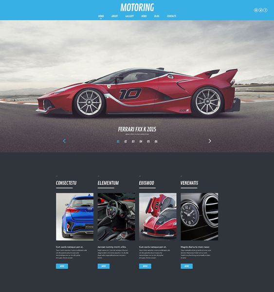 motoring car vehicle automotive wordpress themes