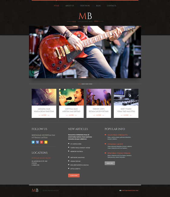 music wordpress themes band1