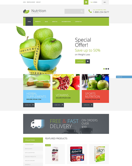 nutrition medical shopify themes 1