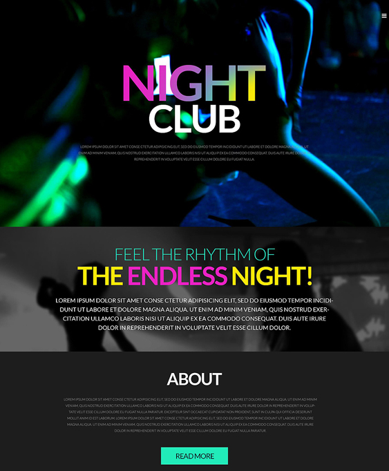 party dark wordpress themes