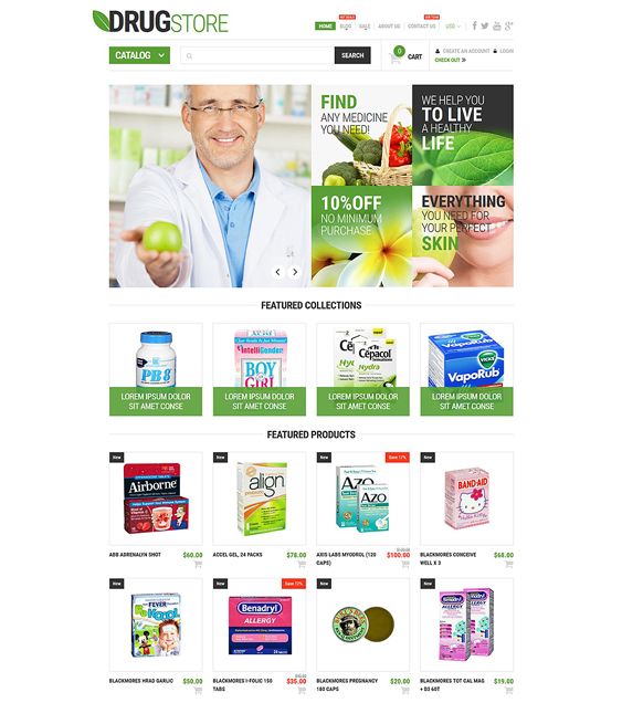 pharmaceutical medical shopify themes