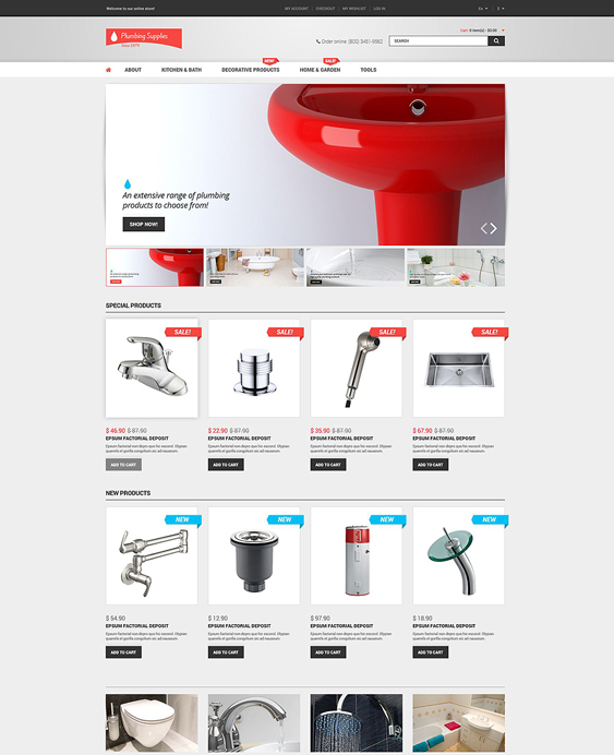 plumbing hardware home improvement magento themes