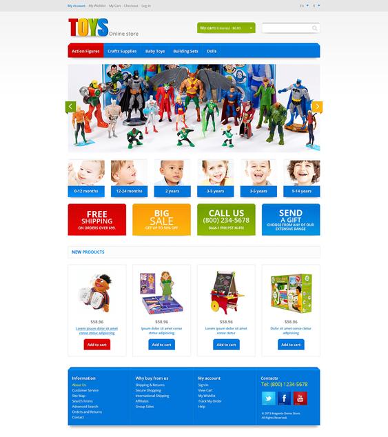 responsive kids magento themes