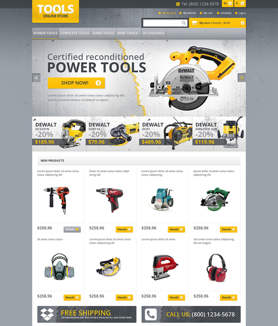 responsive hardware home improvement magento themes