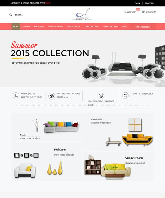 responsive furniture magento themes 1