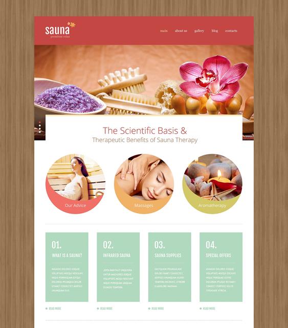 sauna beauty salon spa joomla templates