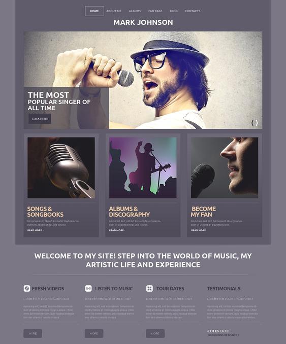 singer music wordpress themes