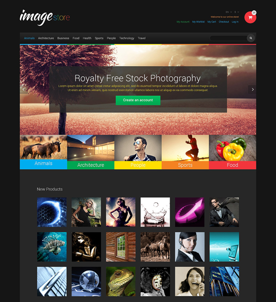 stock dark magento themes