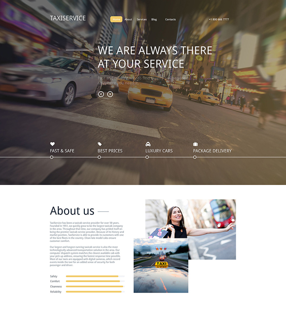 taxi service transportation drupal themes