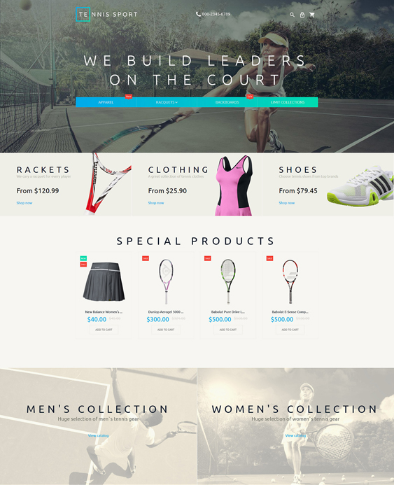 tennis sports fitness magento themes