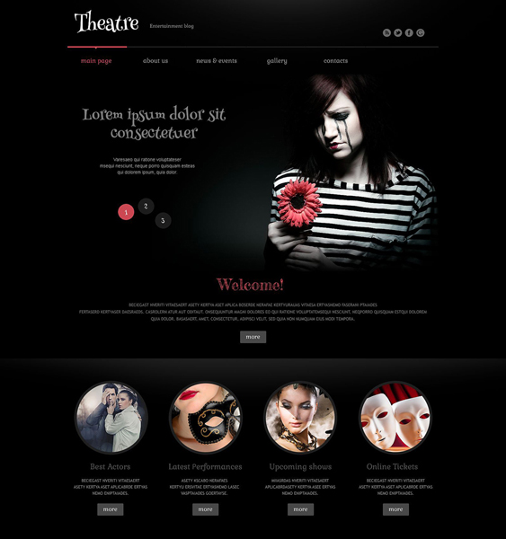 theater dark wordpress themes