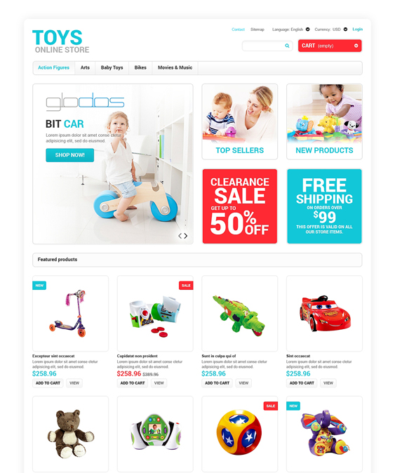 toys for any age kids prestashop themes