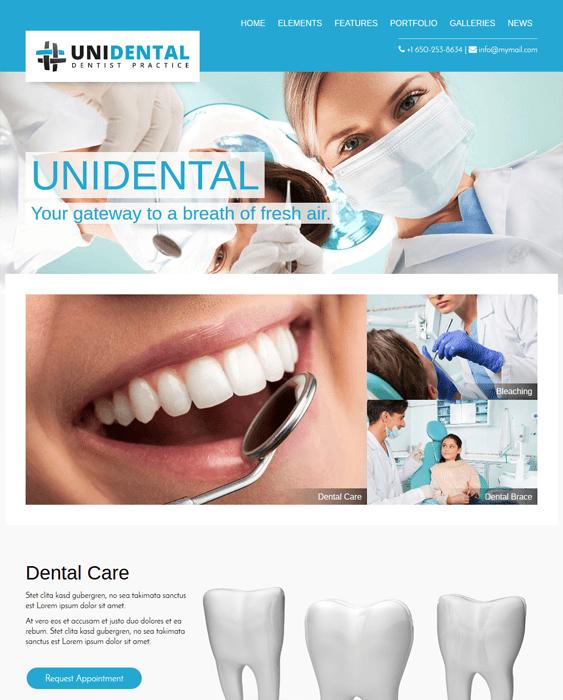 unidental medical wordpress themes