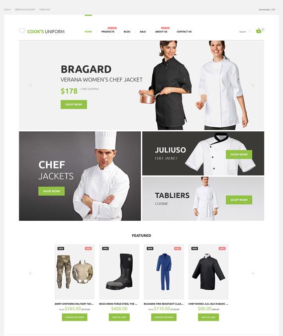 uniform responsive shopify themes