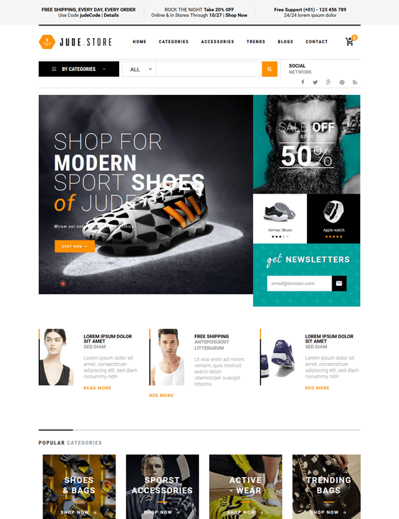 ves jude sports fitness magento themes