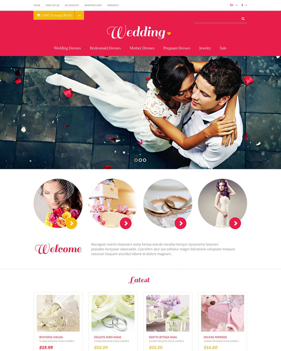 wedding opencart themes