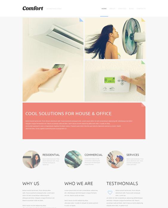air conditioning minimal joomla templates