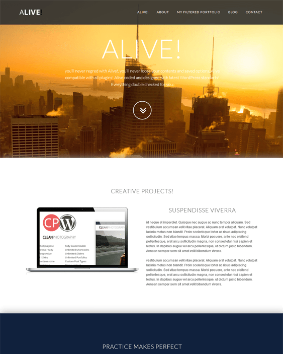 alive parallax wordpress themes