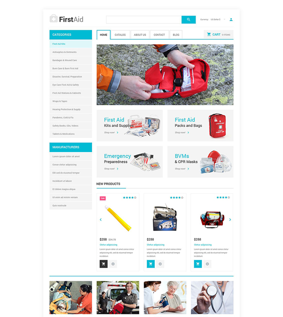 ambulance responsive virtuemart themes