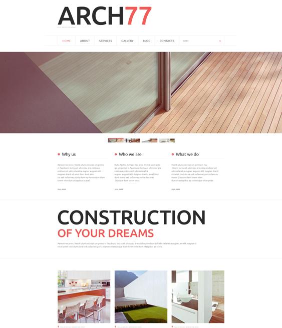 architecture minimal joomla templates