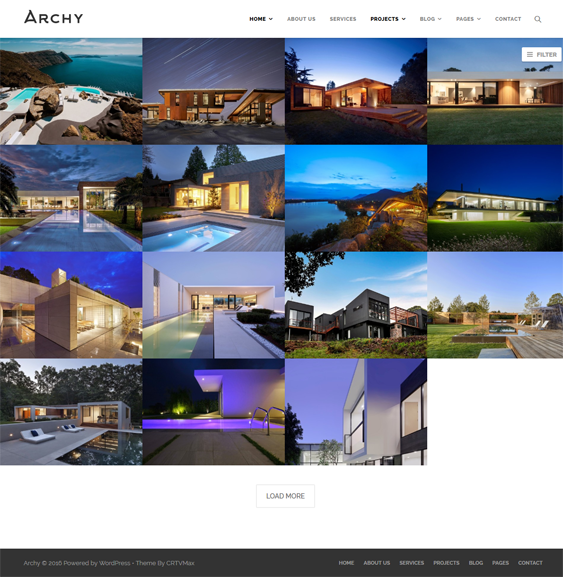 archy architect wordpress themes