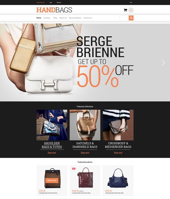 branded handbags purses shopify themes
