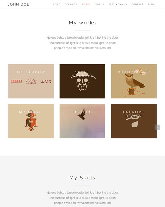 clean portfolio wordpress themes