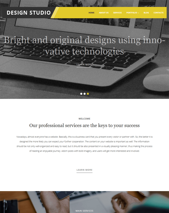 design studio parallax wordpress themes