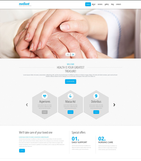 elderly clean drupal themes