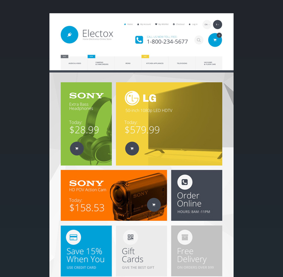 electox magento themes electronic stores