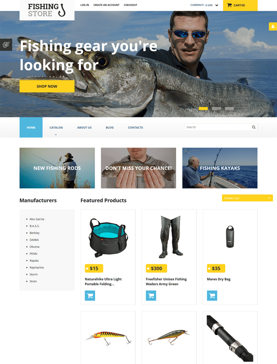 fishing responsive virtuemart themes